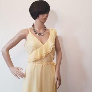 Yellow high-low sun dress